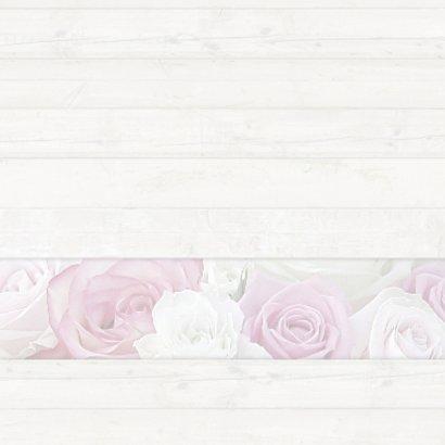 Bedankkaart met rozen - hout 2