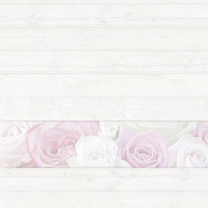 Bedankkaart met rozen - hout 3