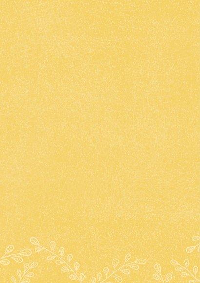 Bedankkaart plantje geel - MW 2