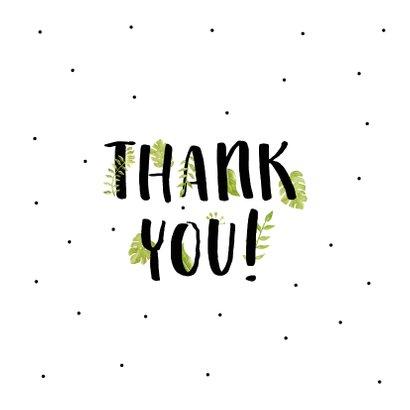 Bedankkaart thank you met mooie planten 2