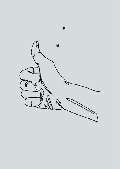 Bedankkaart thumbs up algemeen toppers duim omhoog 2