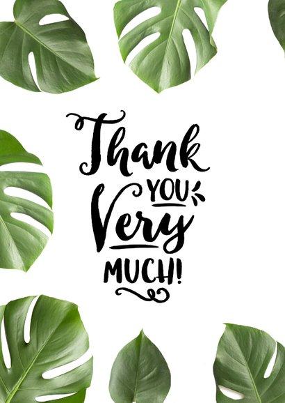 Bedankkaart tropisch botanisch thank you very much 2