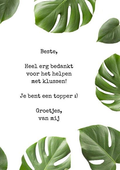 Bedankkaart tropisch botanisch thank you very much 3
