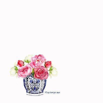 Bedankkaart Vaas met bloemen 2