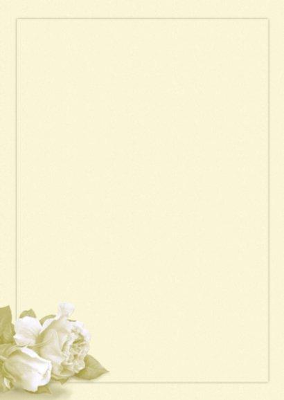 Bedankkaart witte roosjes en foto op lichte ondergrond 2