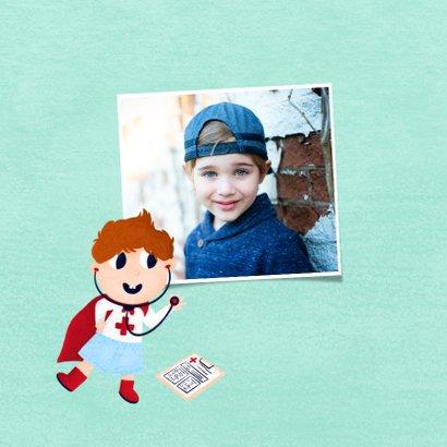 Bedankkaart zorgverlener superheld jongen 2