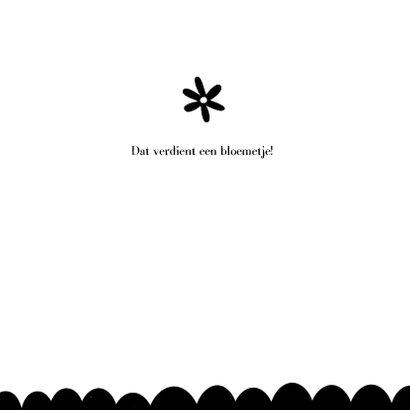 Bedankkaart zwart wit kraft 3