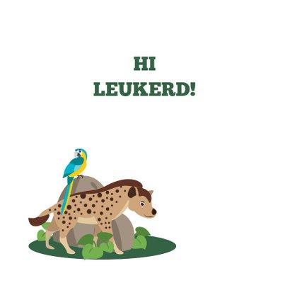 Bedankkaartje met stoere jungledieren die hi zeggen 2