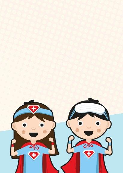 Bedankkaartje superhelden voor zorgverleners ziekenhuis 2