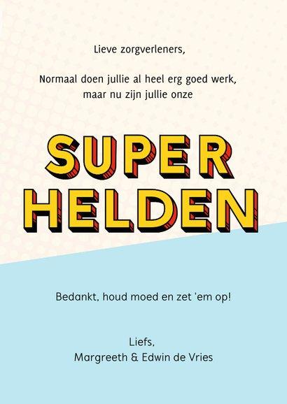 Bedankkaartje superhelden voor zorgverleners ziekenhuis 3