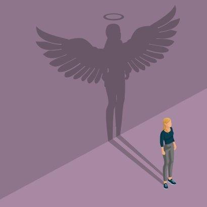Bedankkaartje: voor een vrouwelijke engel 2