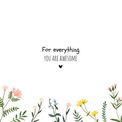 Bedankkaartjes | Thanks, wilde vrolijke bloemen 2