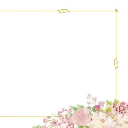 Bedankt goud kader met rozen 3