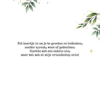 Bedanktkaart botanisch 3