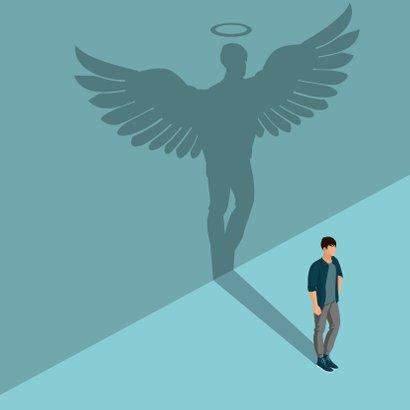 Bedanktkaartje: voor een engel zonder vleugels 2