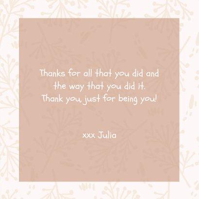 Bedanktkaartjes, Thanks roze bloemen  3