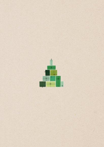 Bemoedigende zakelijke kerstkaart cadeautjes kerstboom Achterkant