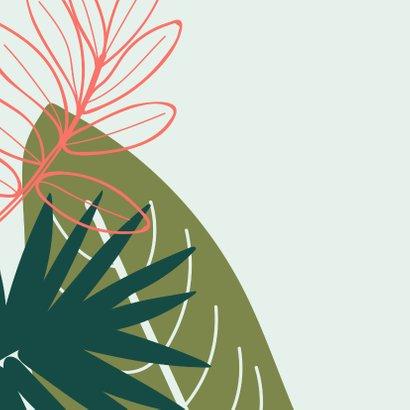 Beterschap bladeren in groen en koraalrood 2