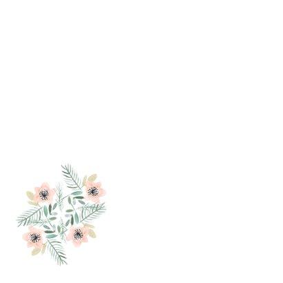 Beterschap kaart met bloemen aquarel - natuur 2