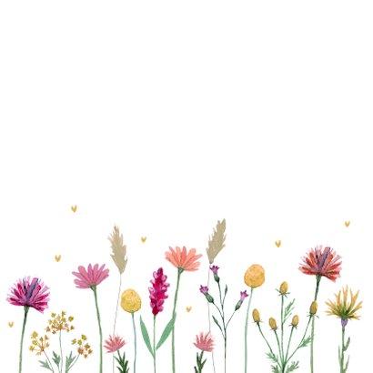 Beterschap kaart met droogbloemen 2
