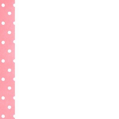 Beterschap lief roze kaartje stippen hartje en pleister 2