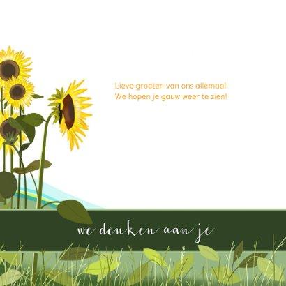 Beterschap - zonnebloemen en een pimpelmeesje 3