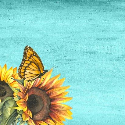 Beterschap zonnebloemen label 2