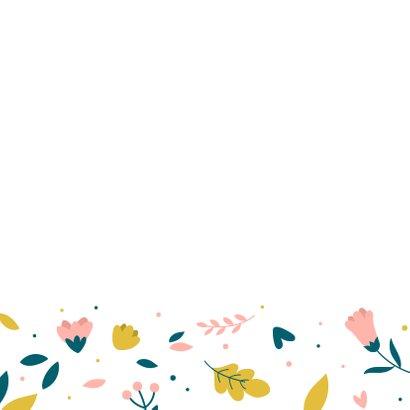 Beterschapkaart met bloemenpatroon 2