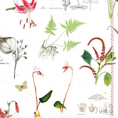 Beterschapkaart met botanische bloemenprint 2