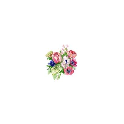 Beterschapkaart met grijs bloemenachtergrond  2