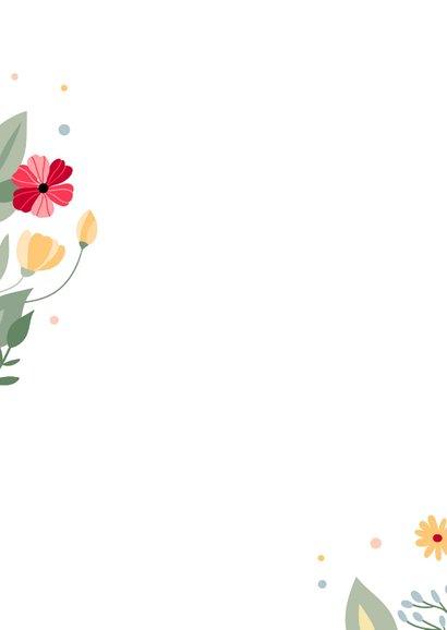 Beterschapkaart met kleurrijke bloemen 2