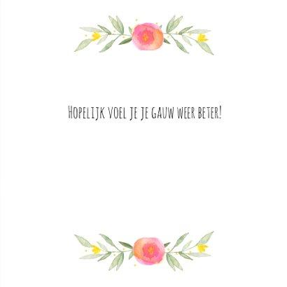 Beterschapskaart bloemenkrans 3