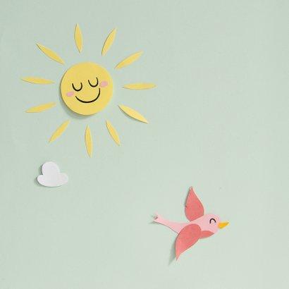 Beterschapskaart een zonnestraaltje speciaal voor jou wolkje 2