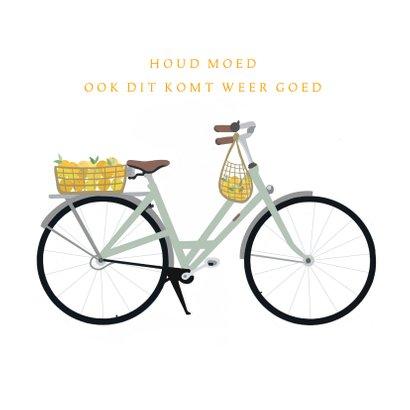 Beterschapskaart fiets met mandje sinaasappels 2