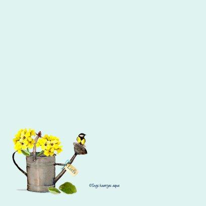 Beterschapskaart Gieter met geel vogeltje 2