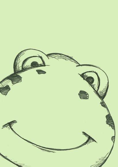 Beterschapskaart groen met getekende kikker 2