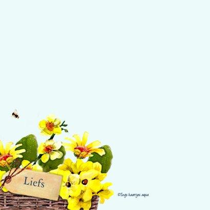 Beterschapskaart Mand met gele bloemen 2