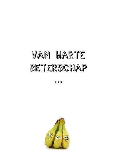 Beterschapskaart met bananen met gezichtjes 2