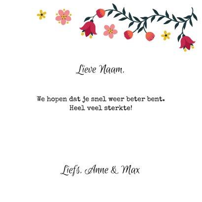 Beterschapskaart met bloemen in hartvorm 3