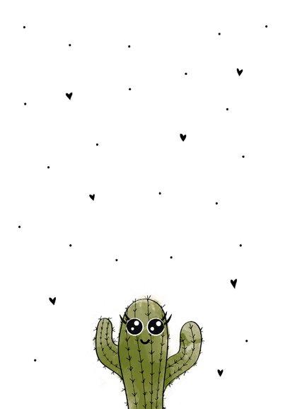 Beterschapskaart met een stekelige cactus met tekst knuffel! 2