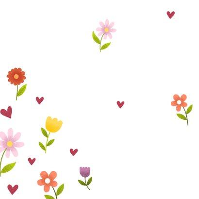 Beterschapskaart met vrolijke bloemen en hartjes 2