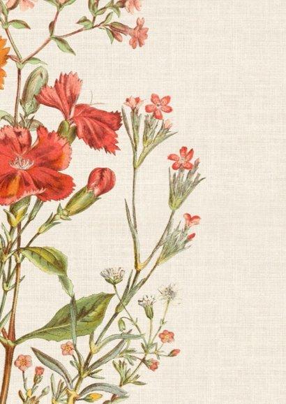 Beterschapskaart met vrolijke vintage bloemen 2