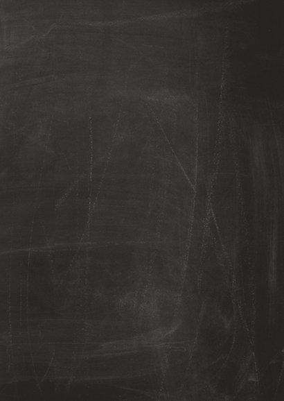Beterschapskaart op schoolbord met eigen naam 2