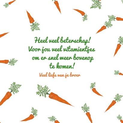 Beterschapskaart van een konijn met heel veel wortels! 3