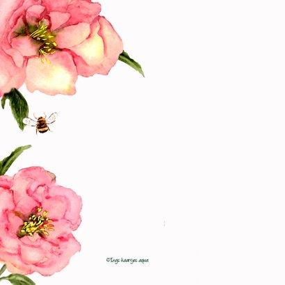 Beterschapskaart Zachte bloemen met vlinder 2