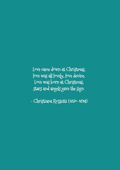Biddend engeltje kerstkaart 3