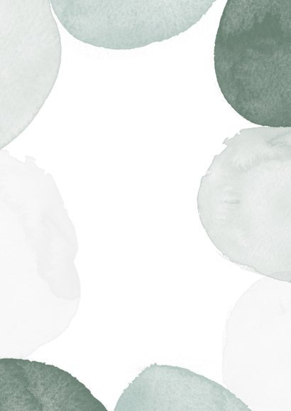 Bidprentje man stijlvol waterverf foto groen Achterkant
