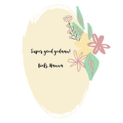 Blanco felicitatiekaart met bloemenkrans 3