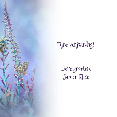 Blauwe vlinder-fantasie 3