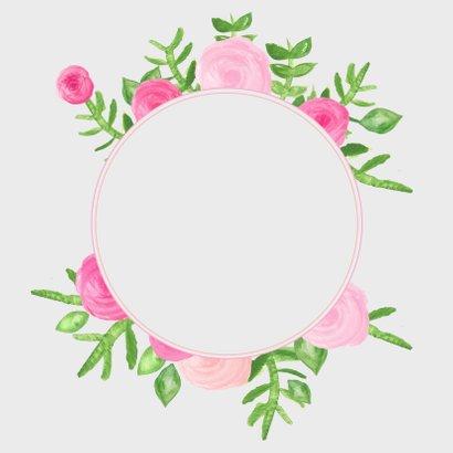 Bloemen cirkel meisje - SU 3